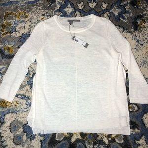 NWT 360 Sweater Ivory linen studded back sunglass